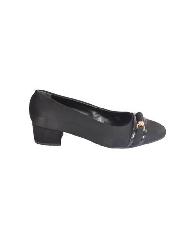 Maje 6039 Siyah Süet Kadın Topuklu Ayakkabı Siyah